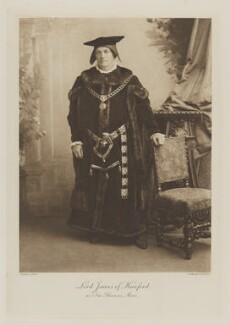 Henry James, 1st Baron James of Hereford as Sir Thomas More, by Alexander Bassano, photogravure by  Walker & Boutall - NPG Ax41051