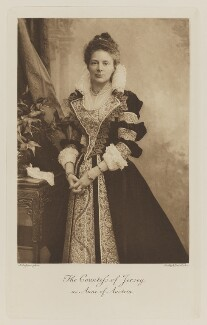 Margaret Elizabeth Child-Villiers (née Leigh), Countess of Jersey as Anne of Austria, by Alexander Bassano, photogravure by  Walker & Boutall - NPG Ax41064