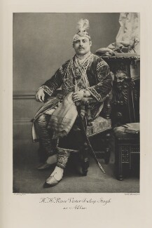 Prince Victor Albert Jay Duleep Singh as Akbar, by Alexander Bassano, photogravure by  Walker & Boutall - NPG Ax41069