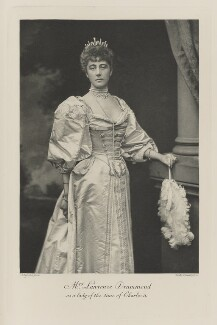 Katherine Mary Drummond (née Antrobus) as a lady from the time of Charles II, by Alexander Bassano, photogravure by  Walker & Boutall - NPG Ax41074