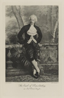 Lawrence John Lumley Dundas, 2nd Marquess of Zetland when Earl of Ronaldshay as Sir Peter Teazle, by Lafayette, photogravure by  Walker & Boutall - NPG Ax41079
