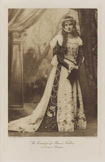Susan Violet Erskine (née Ashley-Cooper), Countess of Mar and Kellie as Dante's Beatrice, by Alice Hughes, photogravure by  Walker & Boutall - NPG Ax41081