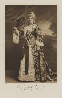 Louisa Jane (née Hamilton), Duchess of Buccleuch as Elizabeth, Duchess of Buccleuch, by John Thomson, photogravure by  Walker & Boutall, 1897; published 1899 - NPG Ax41088 - © National Portrait Gallery, London