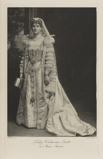 Katharine Mary (née Montagu-Douglas-Scott), Viscountess Hampden as Marie Stuart, by John Thomson, photogravure by  Walker & Boutall - NPG Ax41089