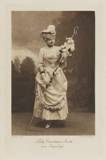 Lady Constance Anne Cairns (née Montagu-Douglas-Scott) as a Shepherdess, by John Thomson, photogravure by  Walker & Boutall - NPG Ax41090