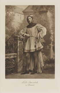 Giles Stephen Holland Fox-Strangways, 6th Earl of Ilchester when Lord Stavordale as Petrarch, by Lafayette, photogravure by  Walker & Boutall - NPG Ax41091
