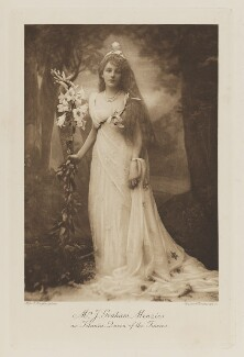 Susannah Graham Menzies (née Wilson, later Lady Holford) as Titania, Queen of the Fairies, by Alice Hughes, photogravure by  Walker & Boutall, 1897; published 1899 - NPG  - © National Portrait Gallery, London