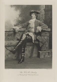 Hon. Frederick William Stanley in hunting dress (period of Louis XVI), by Lafayette, photogravure by  Walker & Boutall - NPG Ax41105