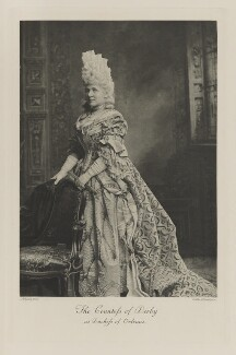 Constance (née Villiers), Countess of Derby as Duchess of Orleans, by Lafayette, photogravure by  Walker & Boutall - NPG Ax41106