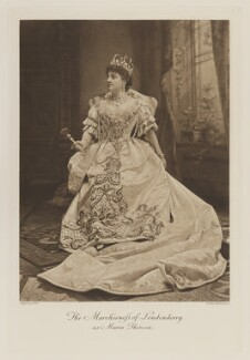 Theresa Susey Helen (née Talbot), Marchioness of Londonderry as Maria Theresa, by Lafayette, photogravure by  Walker & Boutall - NPG Ax41111