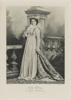 Corisande Evelyn Vere (née Guest), Lady Rodney as Queen Guinevere, by Lafayette, photogravure by  Walker & Boutall - NPG Ax41114