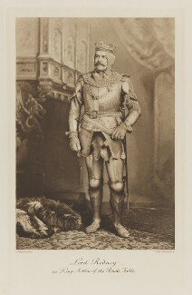 George Rodney, 7th Baron Rodney as King Arthur of the Round Table, by Lafayette, photogravure by  Walker & Boutall - NPG Ax41115