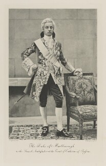 Charles Richard John Spencer-Churchill, 9th Duke of Marlborough as the French Ambassador at the Court of Catherine of Russia, by Alexander Bassano, photogravure by  Walker & Boutall, 1897; published 1899 - NPG Ax41117 - © National Portrait Gallery, London