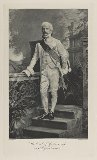 Charles Alfred Worsley Pelham, 4th Earl of Yarborough as a Russian Courtier, by Lafayette (Lafayette Ltd), photogravure by  Walker & Boutall, 1897; published 1899 - NPG Ax41125 - © National Portrait Gallery, London