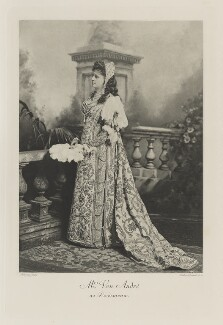 Mary Alice (née Palmer), Baroness von André (later Baroness Wedel Jarlsberg) as Desdemona, by Lafayette (Lafayette Ltd), photogravure by  Walker & Boutall, July 1897; published 1899 - NPG Ax41129 - © National Portrait Gallery, London