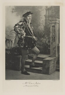 Adolf, Baron von André as Benvenuto Cellini, by Lafayette (Lafayette Ltd), photogravure by  Walker & Boutall, 14 July 1897; published 1899 - NPG Ax41130 - © National Portrait Gallery, London