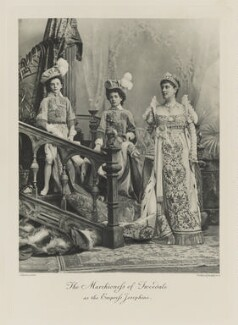 Lord Arthur Vincent Hay; William George Montagu Hay, 11th Marquess of Tweeddale; Candida Louise, Marchioness of Tweeddale as the Empress Josephine, by Lafayette, photogravure by  Walker & Boutall - NPG Ax41133