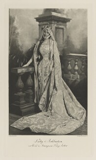 Mabel Edith (née Hood), Lady Ashburton as Enid in Tennyson's 'King Arthur', by Lafayette (Lafayette Ltd), photogravure by  Walker & Boutall, 2 July 1897; published 1899 - NPG Ax41135 - © National Portrait Gallery, London
