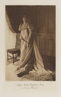 Aileen May (née Wyndham-Quin), Countess of Meath as Queen Hortense, by Gunn & Stuart, photogravure by  Walker & Boutall - NPG Ax41139