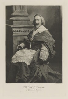 Windham Thomas Wyndham-Quin, 4th Earl of Dunraven and Mount-Earl as Cardinal Mazarin, by Lafayette, photogravure by  Walker & Boutall - NPG Ax41140