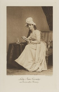 Princess Anne Blanche Alice Singh (née Coventry) as Serena, after Romney, by Elliott & Fry, photogravure by  Walker & Boutall - NPG Ax41142