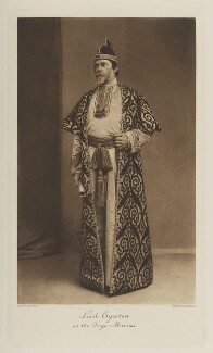 Wilbraham Egerton, 1st Earl Egerton of Tatton as the Doge Morosini, by John Thomson, photogravure by  Walker & Boutall - NPG Ax41145