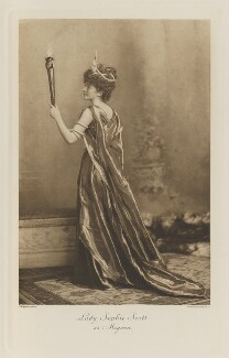Lady Sophie Beatrix Mary Scott (née Cadogan) as Megaera, by Lafayette, photogravure by  Walker & Boutall - NPG Ax41150