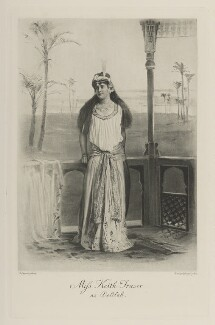 Helena Violet Alice (née Fraser), Countess of Stradbroke as Delilah, by Lafayette, photogravure by  Walker & Boutall - NPG Ax41152