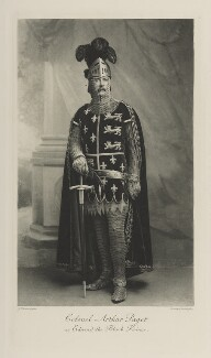 Sir Arthur Henry Fitzroy Paget as Edward, the Black Prince, by John Thomson, photogravure by  Walker & Boutall - NPG Ax41155