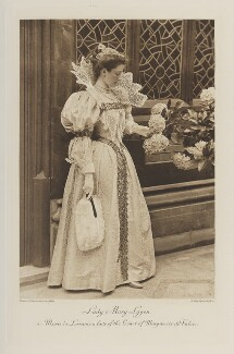 Lady Mary Hepburn-Stuart-Forbes-Trefusis (née Lygon) as Marie de Lorraine, a lady of the Court of Marguerite de Valois, by Thomas Bennett & Sons, photogravure by  Walker & Boutall - NPG Ax41162