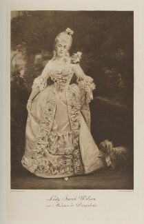 Lady Sarah Isabella Augusta Wilson (née Spencer-Churchill) as Madame de Pompadour, by John Thomson, photogravure by  Walker & Boutall, 1897; published 1899 - NPG Ax41166 - © National Portrait Gallery, London