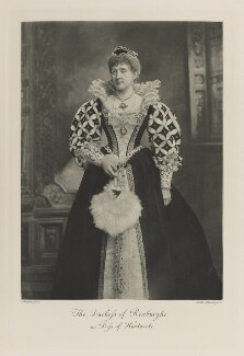 Anne Emily (née Spencer-Churchill), Duchess of Roxburghe as Bess of Hardwick, by Lafayette, photogravure by  Walker & Boutall - NPG Ax41168