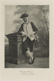 Richard George Penn Curzon, 4th Earl Howe when Viscount Curzon as Admiral Earl Howe, by Lafayette, photogravure by  Walker & Boutall - NPG Ax41171