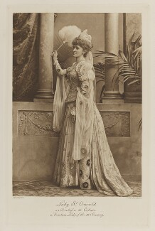 Mabel Susan (née Forbes), Lady St Oswald as Duchessa di Caluria, a Venetian Lady of the XVI Century, by Lafayette, photogravure by  Walker & Boutall - NPG Ax41172