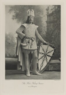 Sir Harry Stonor as Lohengrin, by Lafayette, photogravure by  Walker & Boutall - NPG Ax41179