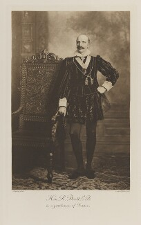 Reginald Baliol Brett, 2nd Viscount Esher as a gentleman of France, by Lafayette, photogravure by  Walker & Boutall - NPG Ax41189