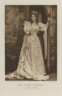 Winifred Anna (née Dallas-Yorke), Duchess of Portland as Duchess of Savoy, by Alice Hughes, photogravure by  Walker & Boutall - NPG Ax41190