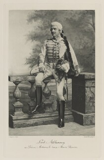 James Herbert Gustavus Meredyth Somerville, 2nd Baron Athlumney as Prince Metternich at the time of Maria Theresa, by Lafayette, photogravure by  Walker & Boutall - NPG Ax41193