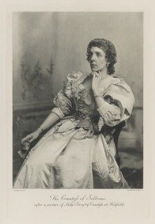 Beatrix Maud (née Cecil), Countess of Selborne after a picture of Lady Percy by Vandyk at Hatfield, by Lafayette, photogravure by  Walker & Boutall - NPG Ax41196