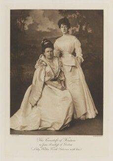 Sydney Charlotte Keith-Falconer (née Montagu), Countess of Kintore as Jane, Duchess of Gordon; Lady Hilda Madeline Keith-Falconer, by Alexander Bassano, photogravure by  Walker & Boutall, 1897; published 1899 - NPG Ax41211 - © National Portrait Gallery, London