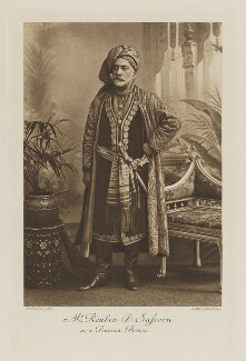 Reuben David Sassoon as a Persian Prince, by Maull & Fox, photogravure by  Walker & Boutall - NPG Ax41212