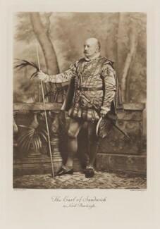 Edward George Henry Montagu, 8th Earl of Sandwich as Lord Burleigh, by Lafayette, photogravure by  Walker & Boutall - NPG Ax41218
