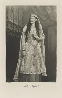 Margaret (née Lygon), Lady Ampthill as a Lady-in-Waiting at the Court of King Arthur, by Lafayette, photogravure by  Walker & Boutall - NPG Ax41219