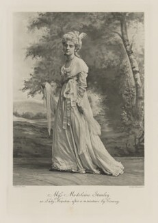 Madeline Cecilia Carlyle Brodrick (née Stanley), Countess of Midleton as Lady Hopeton, after a miniature by Cosway, by Lafayette, photogravure by  Walker & Boutall - NPG Ax41227