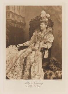 Rosamond Jane Frances (née Spencer-Churchill), Lady de Ramsey as Lady Burleigh, by Lafayette (Lafayette Ltd), photogravure by  Walker & Boutall, 1897; published 1899 - NPG Ax41232 - © National Portrait Gallery, London
