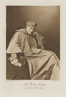 Sir Henry Irving as Cardinal Wolsey, by W. & D. Downey, photogravure by  Walker & Boutall - NPG Ax41235