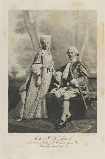 Florence Elizabeth Mary (née Glyn), Lady Portal and Sir William Wyndham Portal, 2nd Bt as Comte and Comtesse de Candale from 'Un Mariage sous Louis XV', by Lafayette, photogravure by  Walker & Boutall - NPG Ax41238