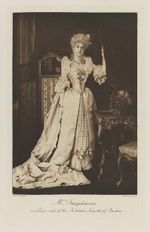 Mrs Farquharson as Louise, wife of the Archduke Leopold of Austria, by Alfred Ellis, photogravure by  Walker & Boutall - NPG Ax41244