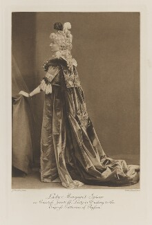 Lady Margaret Mary Spicer (née Fane) as Countess Zinotriff, Lady-in-Waiting to the Empress Catherine of Russia, by John Thomson, photogravure by  Walker & Boutall - NPG Ax41248