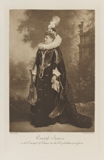 Charlotte Frances Frederica Spencer (née Seymour), Countess Spencer as the Countess of Lennox in the Elizabethan procession, by Lafayette, photogravure by  Walker & Boutall - NPG Ax41253